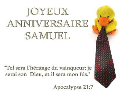 Joyeux Anniversaire Samuel Le Blog Alpha Omega Culinaire