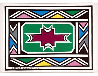 Mahlangu Esther. Ndebele wall design