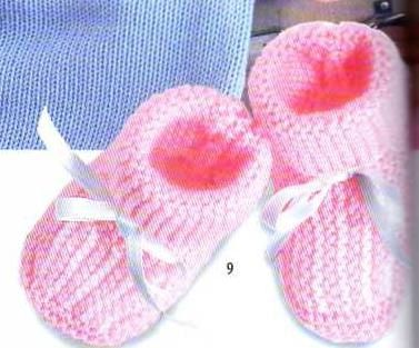 modele tricot chausson bebe naissance