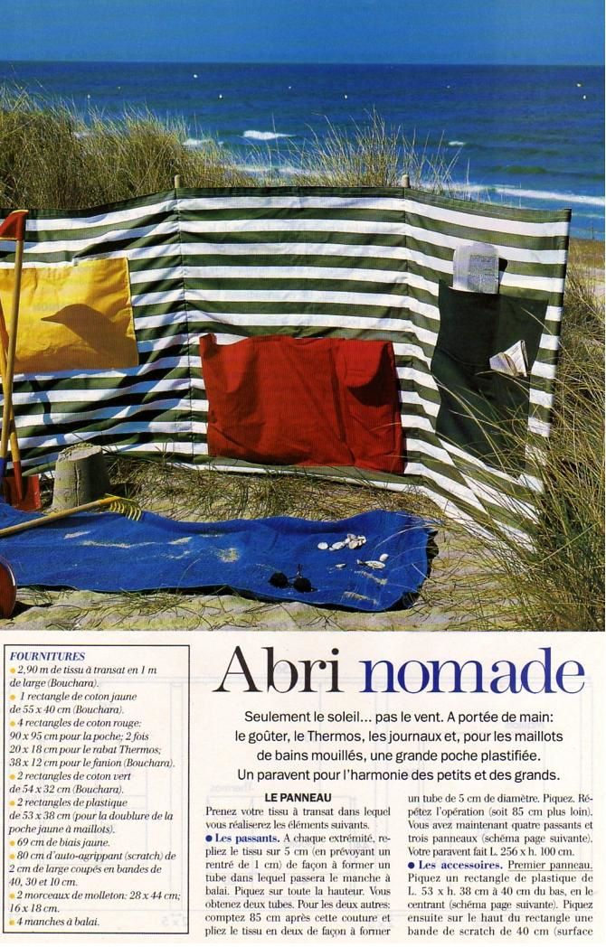 couture un paravent de plage la boutique du tricot et des loisirs cr atifs. Black Bedroom Furniture Sets. Home Design Ideas