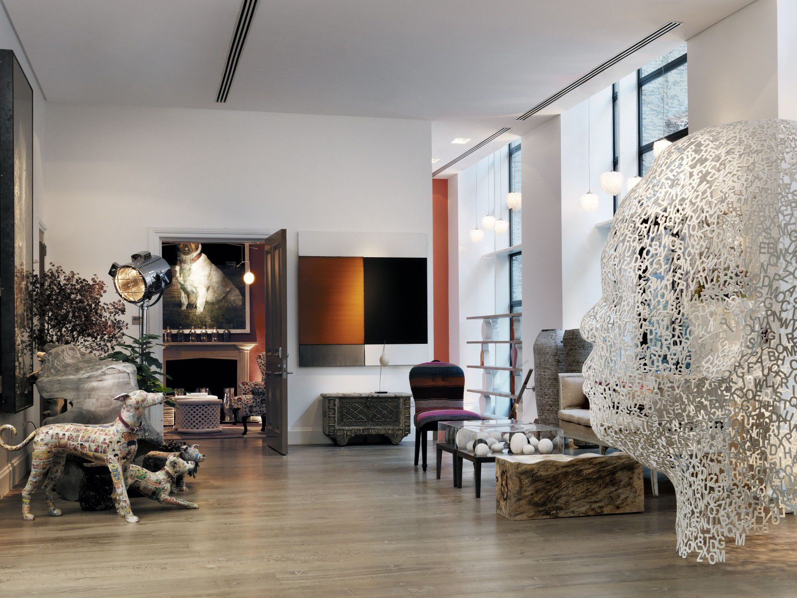 NYCrosby Street Hotel Lobby Jaume Plensa to DR closer in R