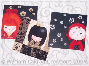 Cartes postales Myriam Lakraa chez International Graphics