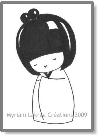 Kokeshi : dessin
