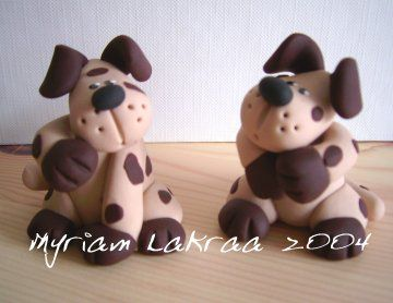 Fimo : Chiens (2004) - Myriam Lakraa Créations