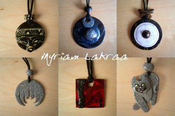 Fimo : quelques pendentifs - Myriam Lakraa Créations
