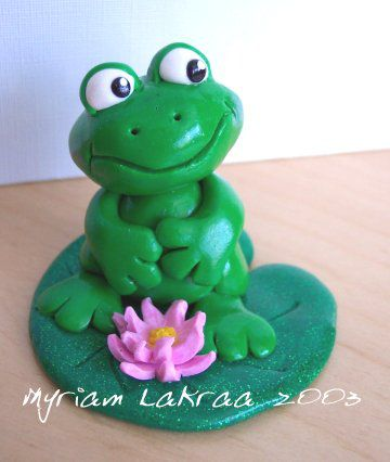 Fimo : grenouille (2003) - Myriam Lakraa Créations