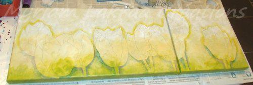 Les muses du printemps (tulipes) - Etape n°3