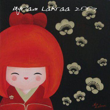 Kokeshi : Kokeshi à la folie - 2007 - Myriam Lakraa Créations