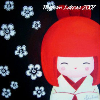 Kokeshi : Paisible kokeshi - 2007 - Myriam Lakraa Créations