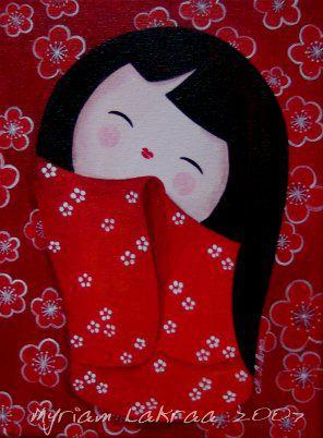 Kokeshi : Petite sakura - oct 2007 - Myriam Lakraa