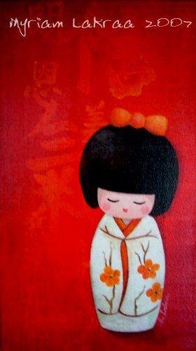 Kokeshi : Les songes de Kokeshi - 2007 - Myriam Lakraa Créations
