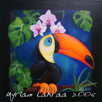 Toucan too much - Acrylique - 2005 - Myriam Lakraa Créations