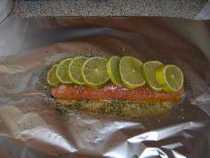 Papillote de saumon citron vert aneth ma passion la cuisine - Papillote saumon four ...