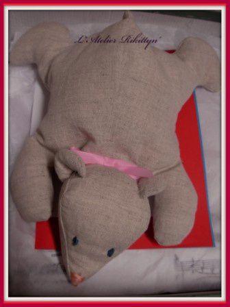 2012.04.14 - Ensemble bébé fille : brassière, bonnet, bloomer, ballerines, doudou et sac à doudou