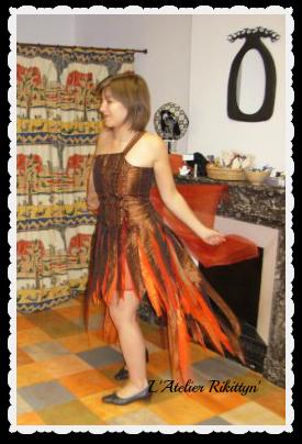 Mes confections pour femmes en 2008 : l'an 2 de L'Atelier Rikittyn' à Saint-Péray (07).