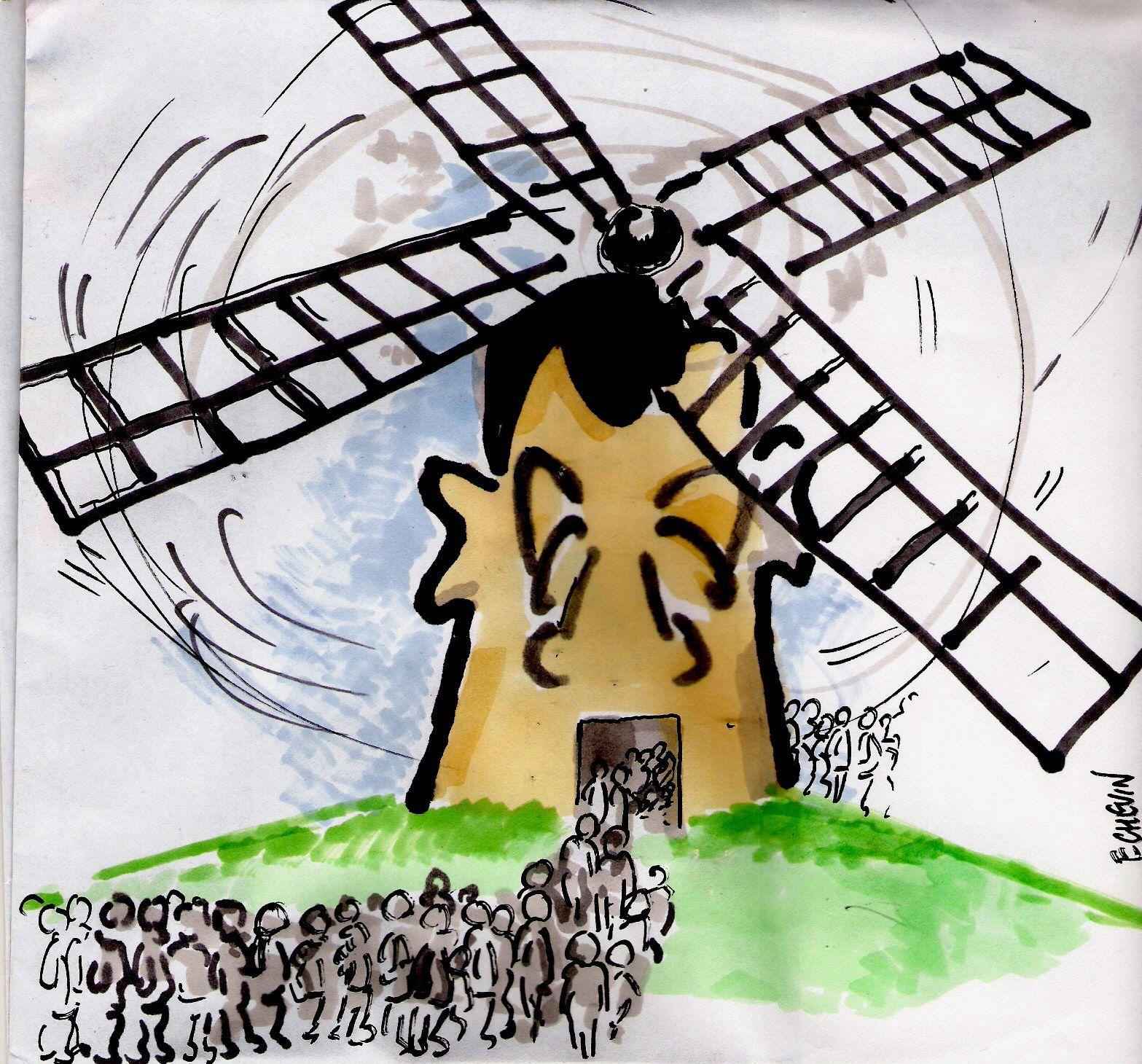 dessin moulin a vent