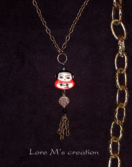 necklace chinese lucky charm, collier porte bonheur