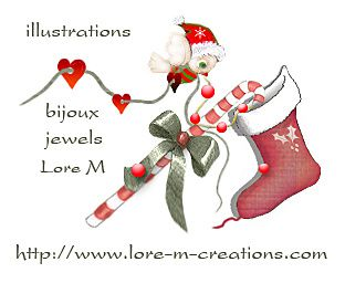 Lore M jewels bijoux noël illustrations