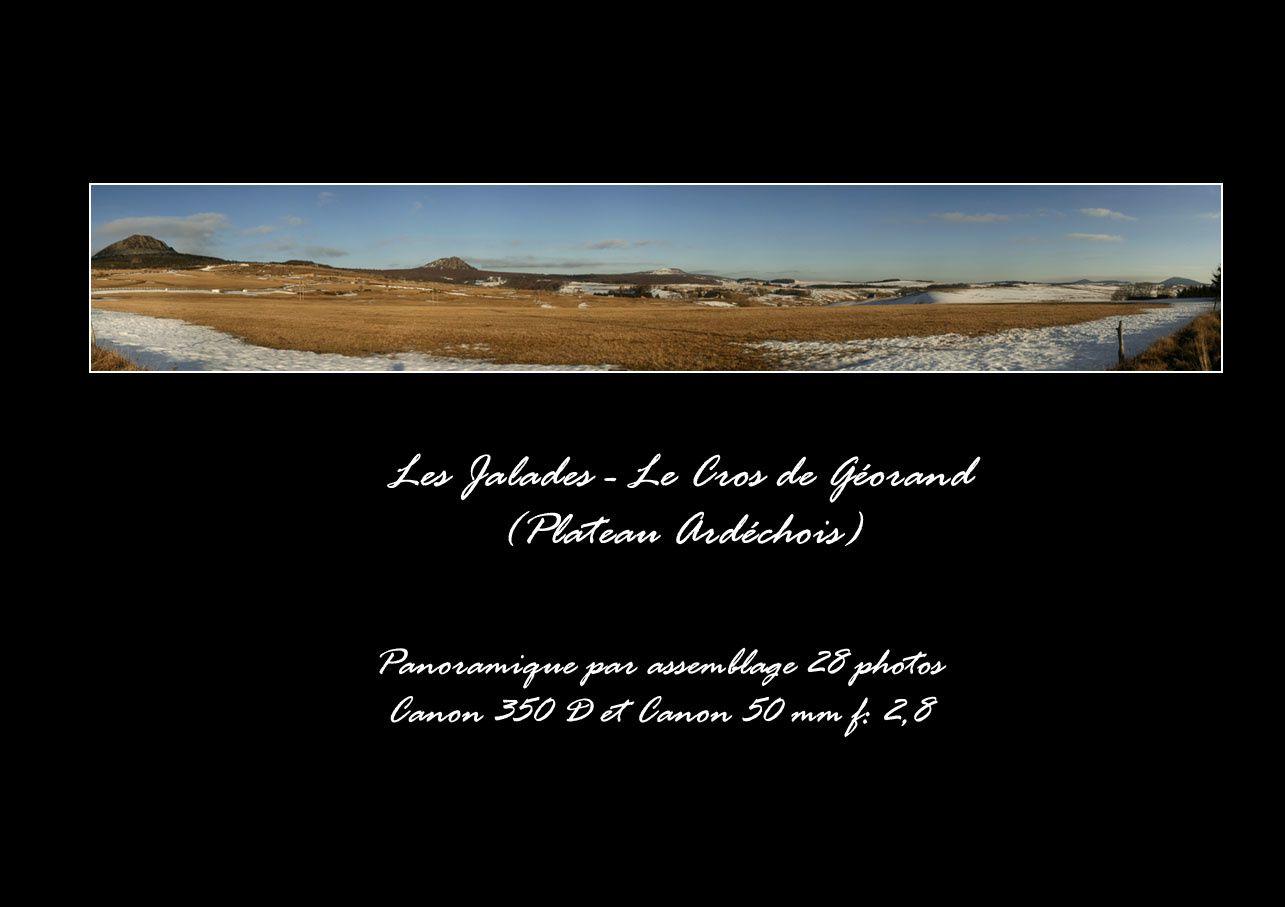 Quelques panoramiques du coin où je déambule le plus: l'Ardèche. Une cinquantaine d'images sur les 130 panos que j'ai en tout.
