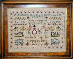 she seeketh sampler chart