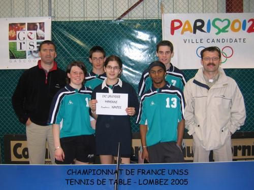 France unss de tennis de table acad mie de toulouse en mai - Federation francaise de tennis de table ...