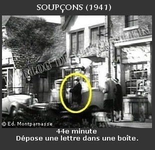 1941-apparition Hitchcock Soupçons
