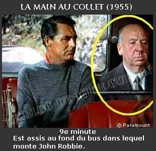 1955-apparition Hitchcock La main au collet