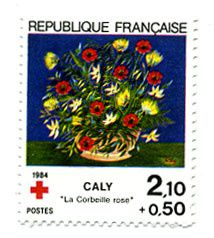 FR1984-Timbre-Xrouge-Caly