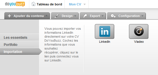 importer données do you buzz