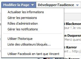 changer administrateur page facebook