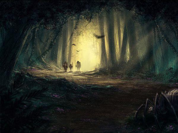 forêt qui fait peur