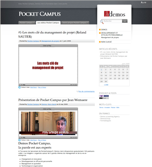 Pocket Campus : Le site web