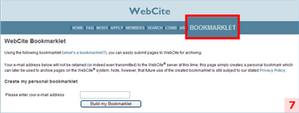 WebCite : menu Bookmarklet