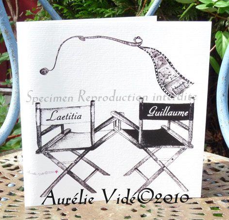 Préférence Faire-part illustré mariage et naissance Aurélie Vidé Paris - Les  DF95