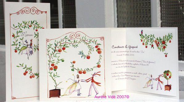 Tous ces faire-part peuvent être déclinés en carte d'invitation, carte de remerciement ou menu et personnalisés avec un détail, une couleur ou un thème. Ils peuvent aussi être simplifiés. Ils sont livrés montés avec enveloppe.