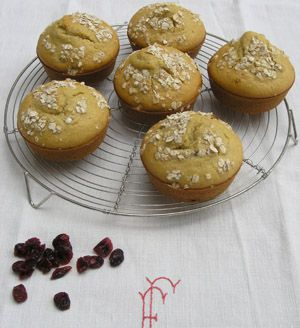 Muffins avoine cranberries