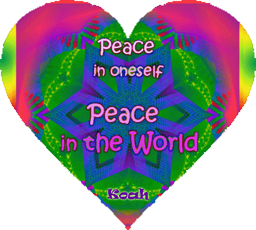 peace in oneself peace in the world koah