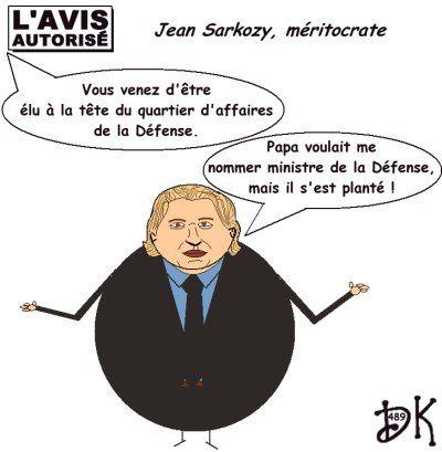 Tags : Jean Sarkozy pas nu, Nicolas Sarkozy, Carla Bruni pas nue non plus, Patrick Devedjian, patron du quartier d'affaires de la Défense, méritocratie, ministre de la Défense, élu, népotisme, ump, droite décomplexée, p'tit jeune qui n'en veut, les Deschiens, limite d'âge