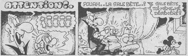 Tags : Scop Magazine, éditions de la grille, Sanguinola le saigneur de la lande, Mickey, Placid et Muzo, parodie, récit d'horreur, vampire, chaperon rouge, loup, chaperon rose, loup-garou, Jean-Claude Poirier, André Chéret, Rahan, bd, bande dessinée, humour, Pif Gadget