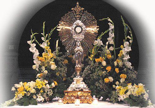 prier devant le saint sacrement