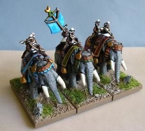 l'armée indienne Elephants-indiens