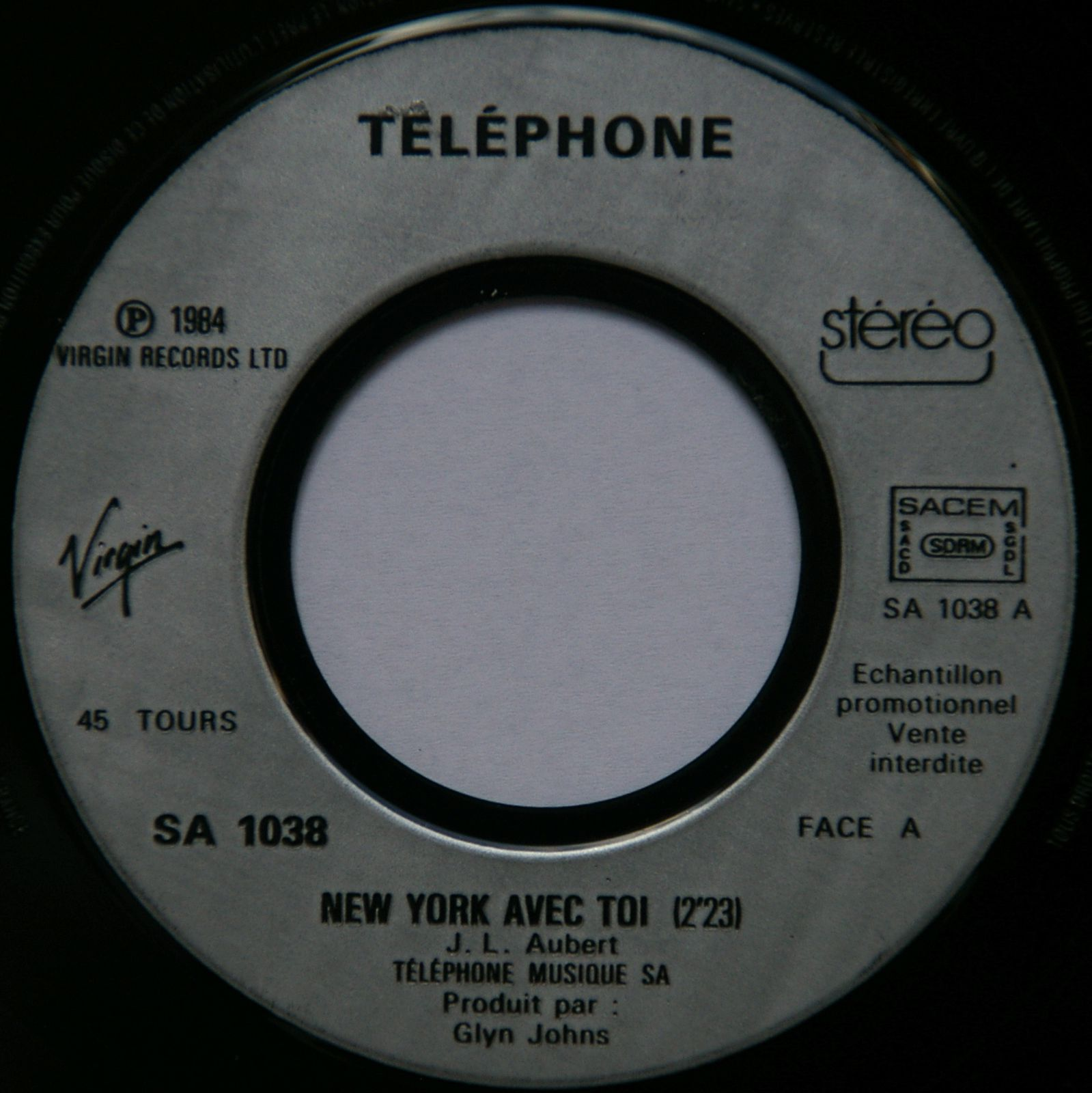 Telephone new york avec toi in paris pressage promo mes vinyles du groupe telephone - New york avec toi ...