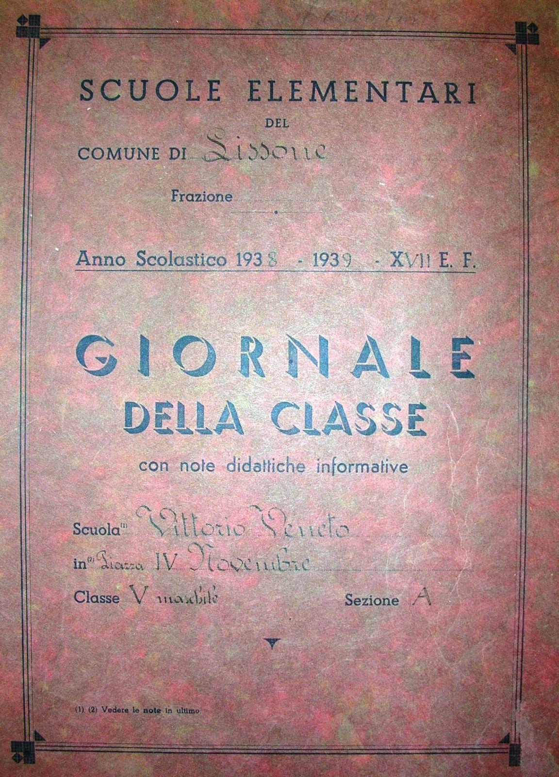 1938-39-giornale-di-classe-frontespizio-
