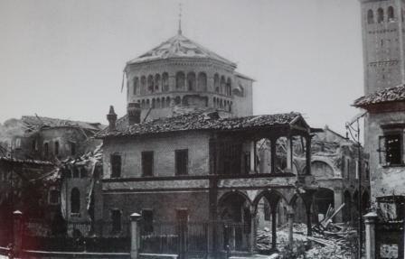 1943 Milano Sant'Ambrogio bombardata