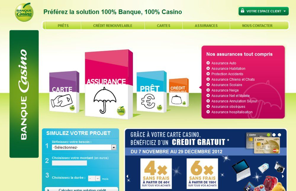 banque casino telphone number