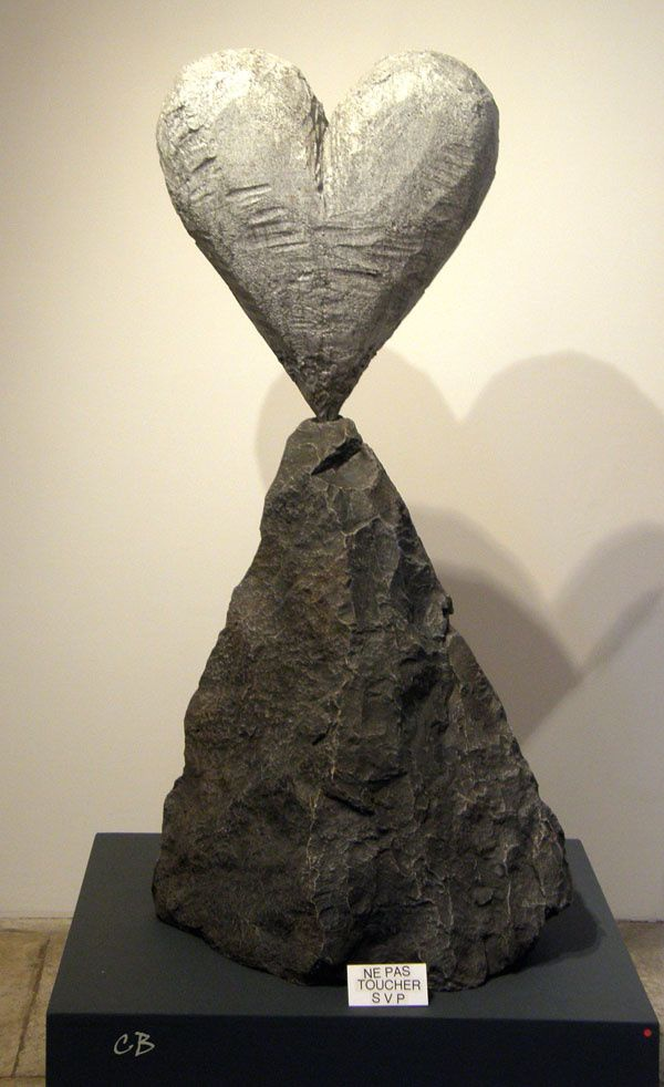 Jim Dine heart on the rock