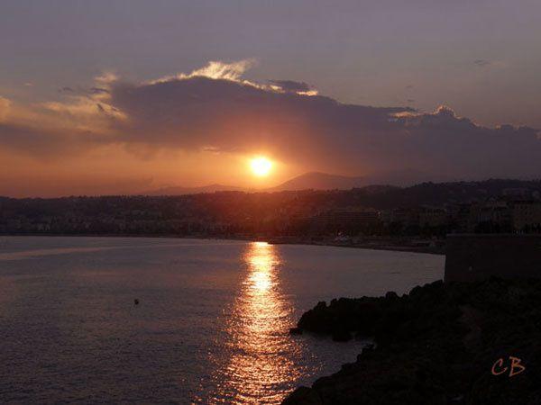 Nice coucher de soleil