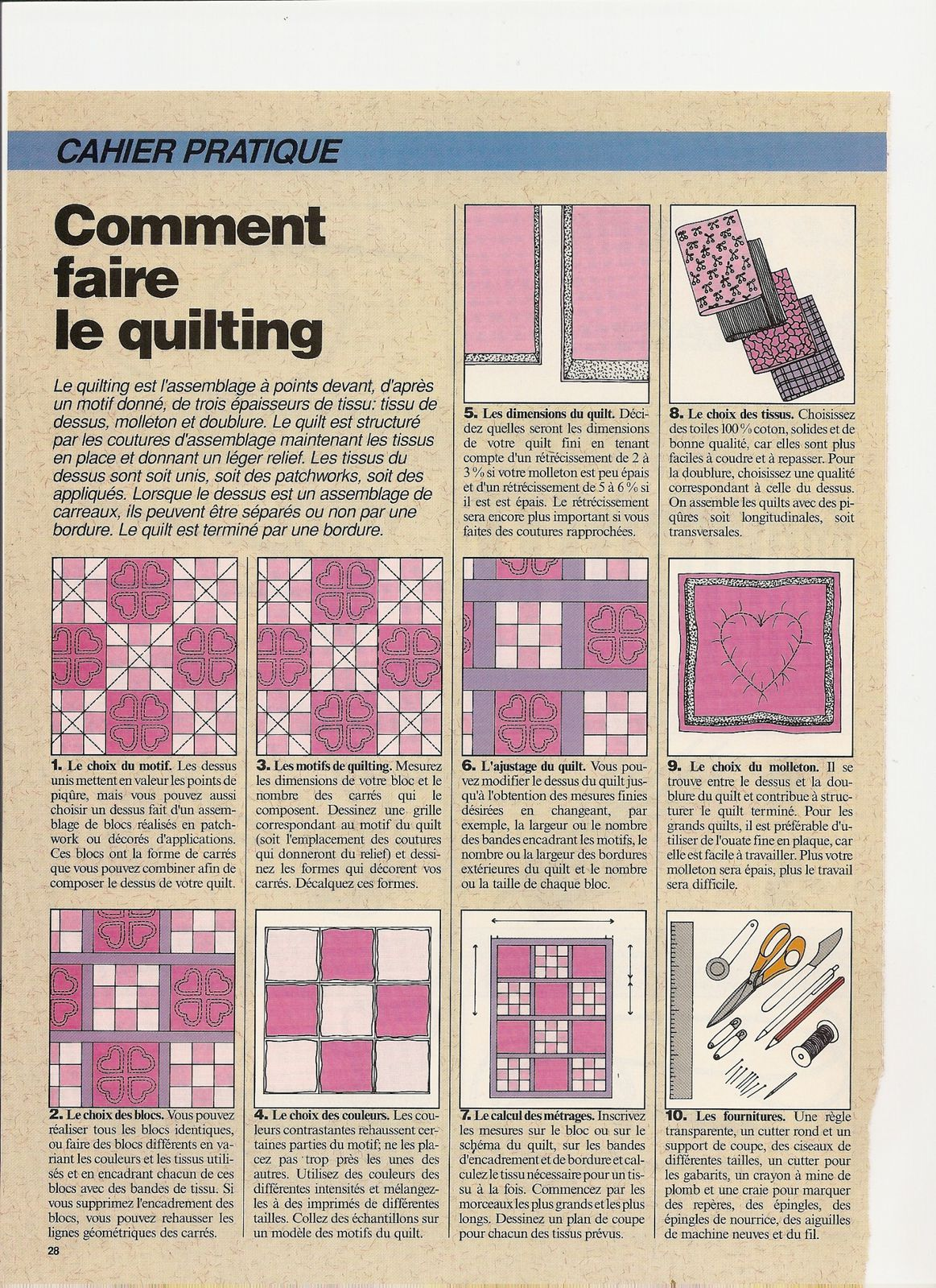 Vieux magazines comment faire le quilting myricoud - Comment faire un magazine ...