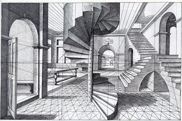Perspective Escalier : Perspectives vredeman de vries le notes