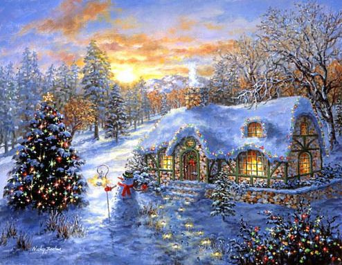 wallpapers noel paysage christmas - photo #7